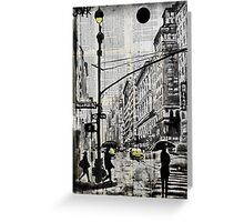 one day in N.Y. Greeting Card