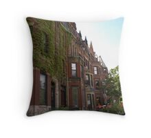 Brownstone Row Throw Pillow