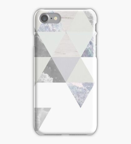 Geometric // white iPhone Case/Skin