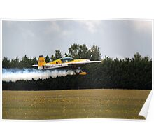 Extra 300 aerobatic plane taking off Poster