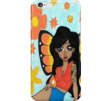Sunny skies and Butterflies iPhone Case/Skin