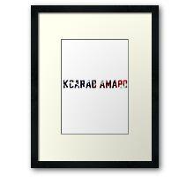 Barack Obama - Kcarab Amabo Framed Print