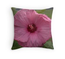 Garden Fuscia Flower Throw Pillow