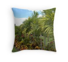 Garden Line of Palm Trees Throw Pillow