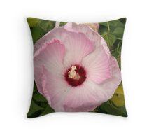 Garden Pink Flower Throw Pillow