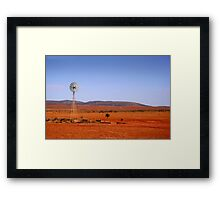 Water vane in the Outback Framed Print
