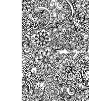 Hand drawn floral ornaments Photographic Print