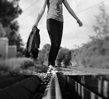 The Girl On The Tracks by Dharmapunk
