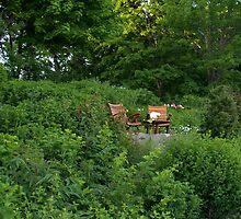 Maine Cliff Walk Patio by photosbycoleen