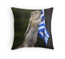 Chippy Speaks Out About Animal Abuse in Greece Throw Pillow