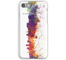 Dortmund skyline in watercolor background iPhone Case/Skin