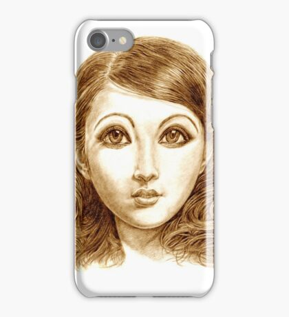 Doll face hand drawing iPhone Case/Skin