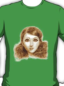 Doll face hand drawing T-Shirt