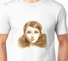 Doll face hand drawing Unisex T-Shirt