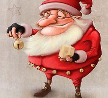 Santa's Bell by jordygraph