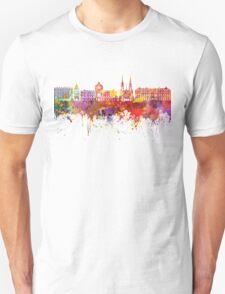 Strasbourg skyline in watercolor background T-Shirt