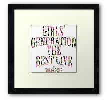 Girls' Generation (SNSD) The Best Live at Tokyo Dome Text Framed Print