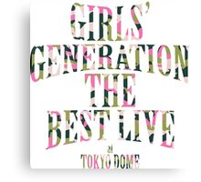 Girls' Generation (SNSD) The Best Live at Tokyo Dome Text Canvas Print