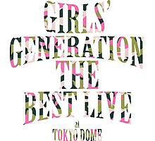 Girls' Generation (SNSD) The Best Live at Tokyo Dome Text Photographic Print