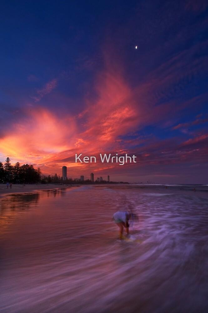 Lost sandcastle by Ken Wright