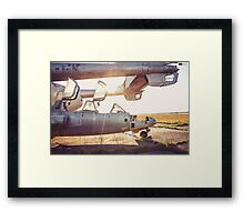 Military Airplane Abandoned  Framed Print