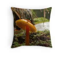 mushroom with a tilted cap Throw Pillow