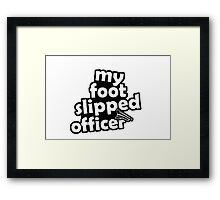 "''My foot slipped officer"" - JDM Decal Framed Print"