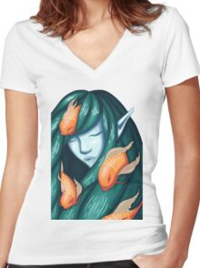 Sea of Dreams Women's Fitted V-Neck T-Shirt