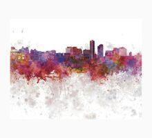 Wilmington DE skyline in watercolor background Kids Clothes