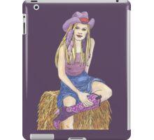 Purple Sage Cowgirl iPad Case/Skin