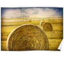 Kansas Hay Bales Poster