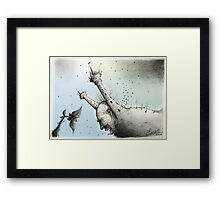 The Bad Father (colour) Framed Print