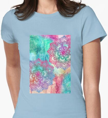 Round and Round the Rainbow Womens Fitted T-Shirt