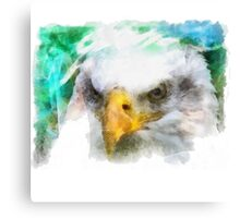 Abstract Bald Eagle Canvas Print