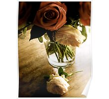 Rose arrangement in glass Poster