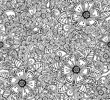 Decorative hand drawn floral ornament by lenkisart