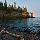Lone Sentinel on Lake Superior by by Marvil LaCroix