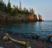 Lone Sentinel on Lake Superior by by M LaCroix