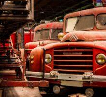 Abandoned fire trucks Sticker