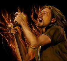 Eddie Vedder by Khalid Al-Aydeross