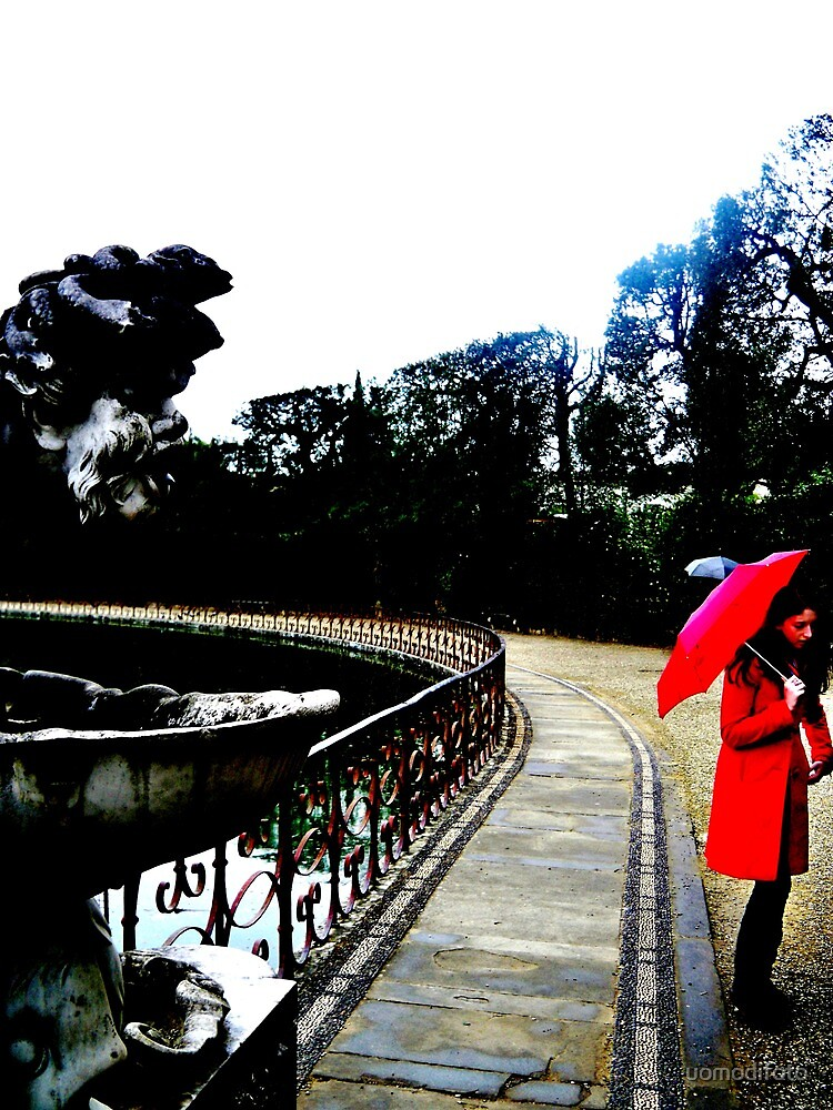 Girl with the Red Umbrella by uomodifoto