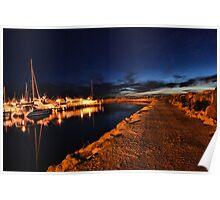 Night Harbour, Fremantle, WA Poster