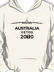 Australia Vetos 2010 - Black Graphic, Funny T-Shirt