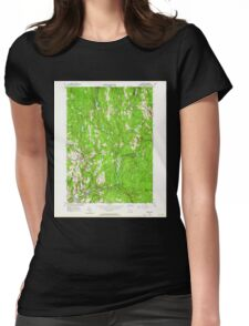 Massachusetts  USGS Historical Topo Map MA Barre 349983 1954 24000 Womens Fitted T-Shirt