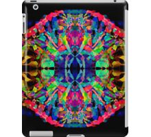 Abstract Psychedelic Rainbow Gem on Black iPad Case/Skin