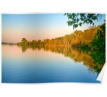 Sunset on Patrick Lake Poster