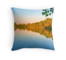 Sunset on Patrick Lake Throw Pillow