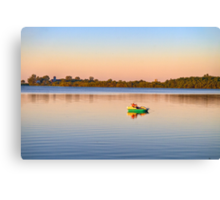 Lone Fisherman Canvas Print