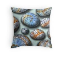 blue rocks  Throw Pillow