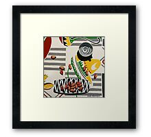 Swirly Cup and Pistachio Nuts Framed Print